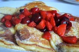 Buttermilk Pancakes - ricotta, strawberries