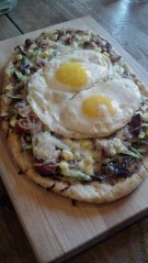 A Boston Brunchers special. the Farmhouse Pizza - included local ingredients from Wilson Farm in Lexington
